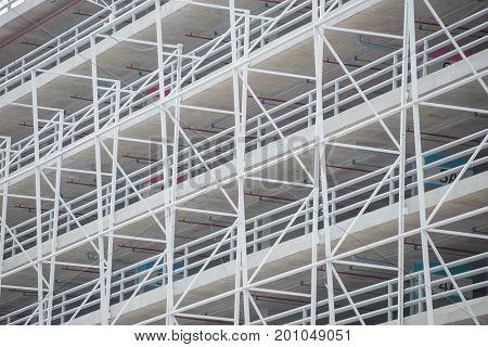 Architecture Metal Frame Building Structure Of Car Parking Space