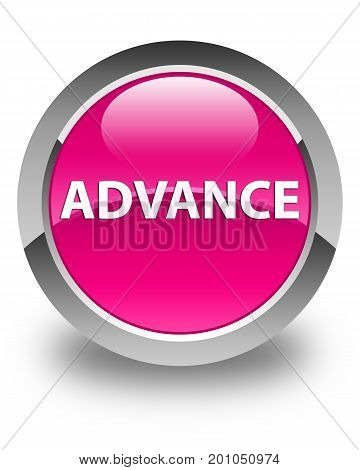 Advance Glossy Pink Round Button