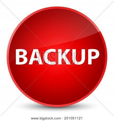 Backup Elegant Red Round Button