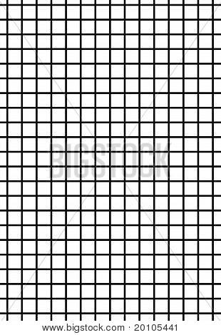 Black grid on white background