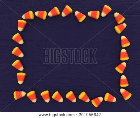 Realistic render of halloween sweets. Classic white, orange and yellow candy corn sweets.