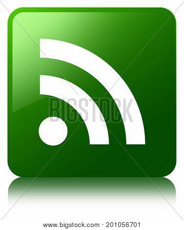 Rss Icon Green Square Button
