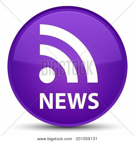 News (rss Icon) Special Purple Round Button