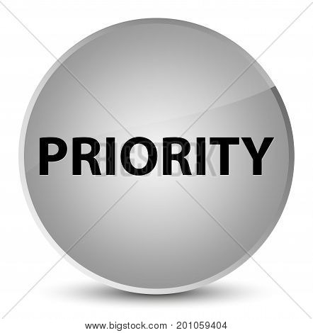 Priority Elegant White Round Button