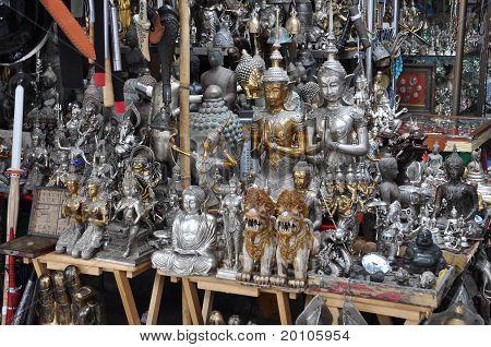 Many Buddha Statue Silver Shop