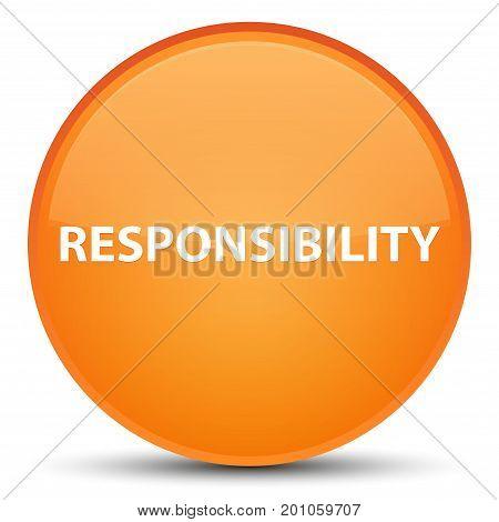 Responsibility Special Orange Round Button
