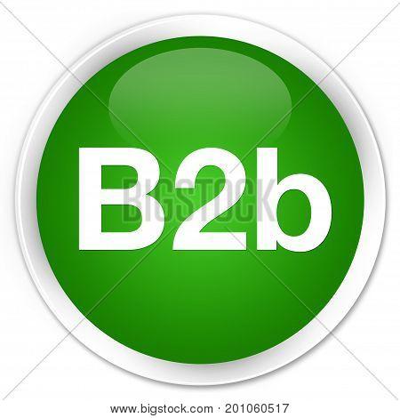 B2B Premium Green Round Button