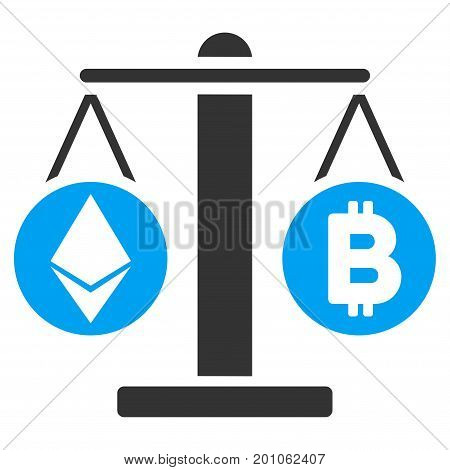 Cryptocurrency Weight flat vector illustration for application and web design.
