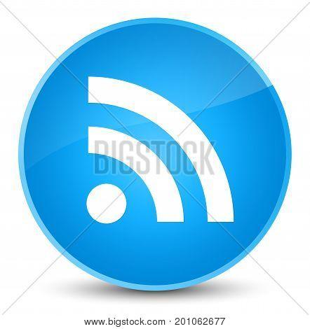 Rss Icon Elegant Cyan Blue Round Button