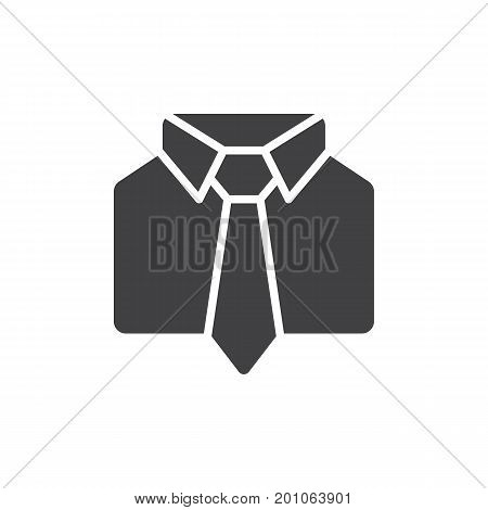 Uniform icon vector, filled flat sign, solid pictogram isolated on white. Shirt and tie symbol, logo illustration. Pixel perfect vector graphics