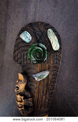 New Zealand - Maori Themed Objects - Mere, Greenstone And Abalone - Paua Shell