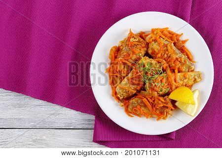 Nototheni Braised With Carrot And Onion