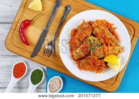 Fish Braised With Vegetables And Tomato