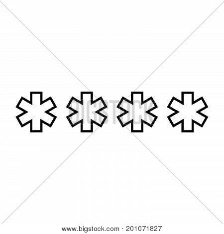 Symbol  Enter Password Black Color Icon .