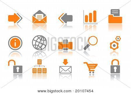Web And Internet Icons - Orange Series