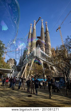 Sagrada Familia - Catholic Church In Barcelona, Catalonia