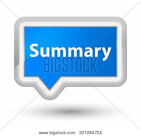 Summary Prime Cyan Blue Banner Button