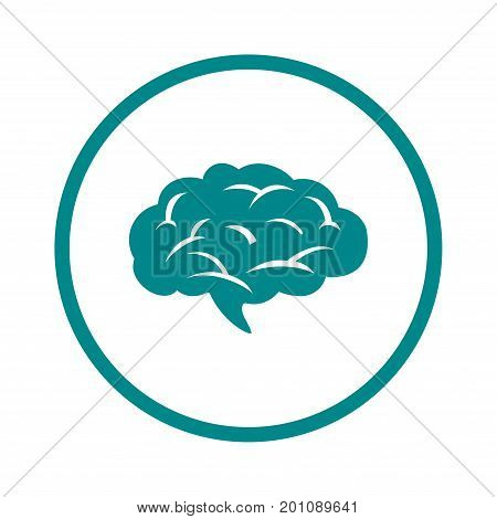Brain icon. Human intelligent smart mind. Neurology symbol.