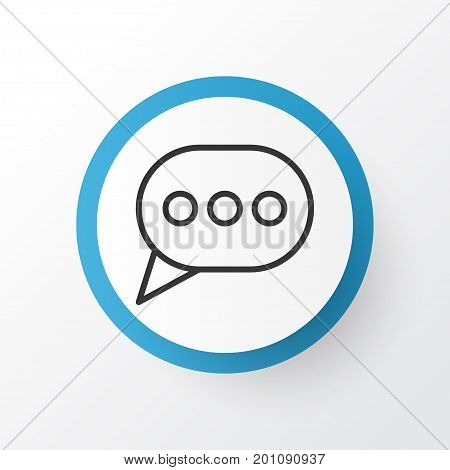 Premium Quality Isolated Message Bubble Element In Trendy Style.  Messaging Icon Symbol.