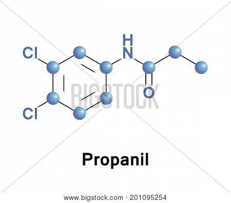 Propanil is a widely used contact herbicide which herbicidal action against weeds is inhibition of their photosynthesis and CO2 fixation