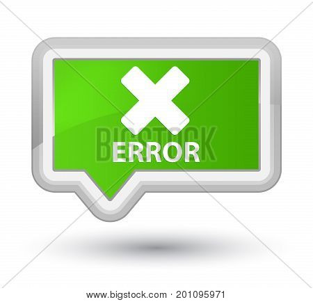 Error (cancel Icon) Prime Soft Green Banner Button