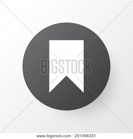 Premium Quality Isolated Flag Element In Trendy Style.  Bookmark Icon Symbol.