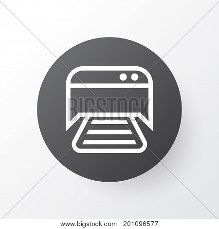 Premium Quality Isolated Printed Document Element In Trendy Style.  Photocopy Machine Icon Symbol.