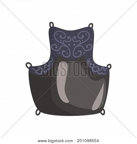 Kendo chest protection gear, Japanese martial art equipment, cartoon vector Illustration on a white background