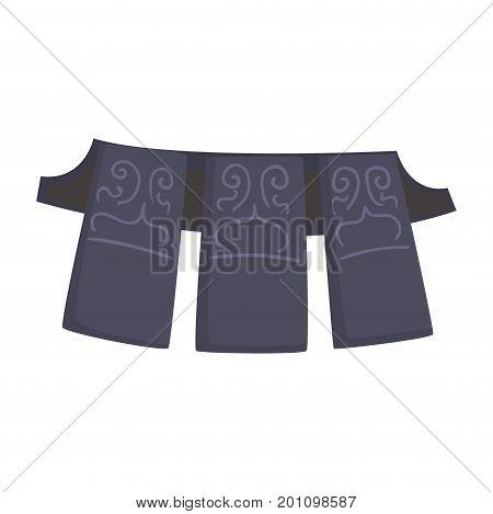 Kendo armor, Japanese martial art equipment, cartoon vector Illustration on a white background