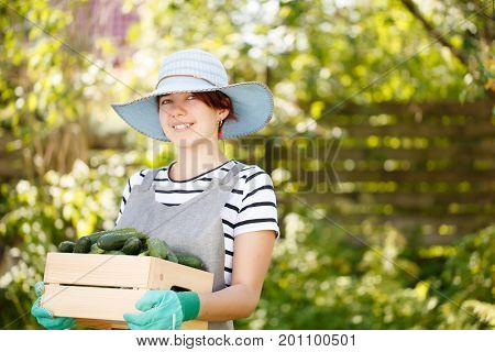 Photo of smiling woman agronomist