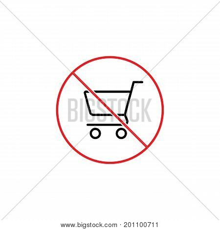 Dont Use Shopping Cart Sign On White Background