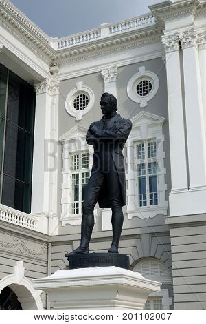 Statue Of Sir Tomas Stamford Raffle