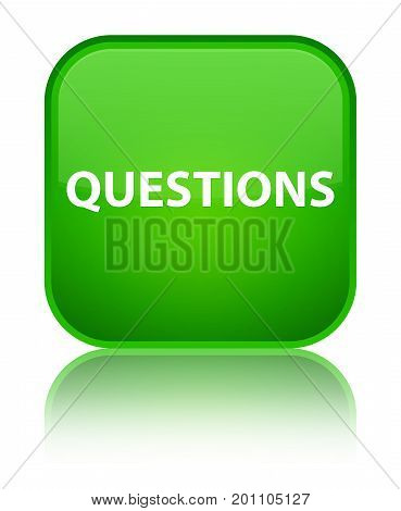 Questions Special Green Square Button