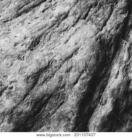 the texture of the stone flagstones limestone black and white photo