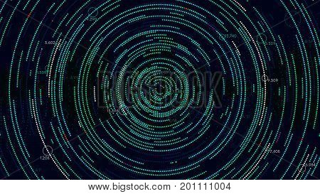 Analytical spiral of information futuristic infographics vector background