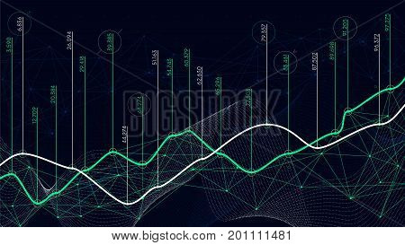 Digital analytics concept data visualization financial schedule vector
