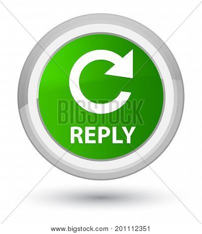 Reply (rotate Arrow Icon) Prime Green Round Button
