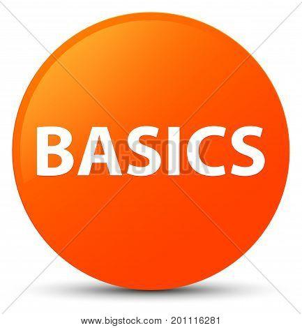 Basics Orange Round Button