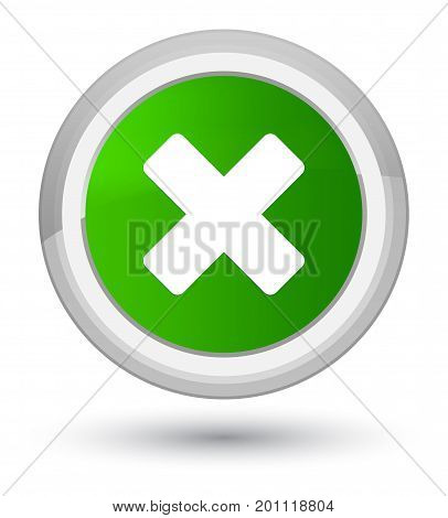Cancel Icon Prime Green Round Button