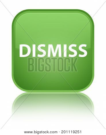 Dismiss Special Soft Green Square Button