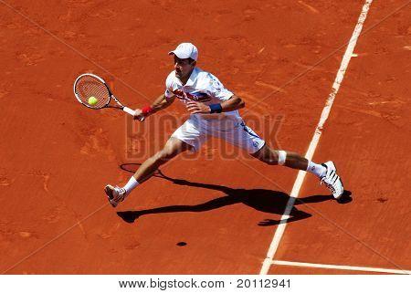 Novak Djokovic (srb) At Roland Garros 2011