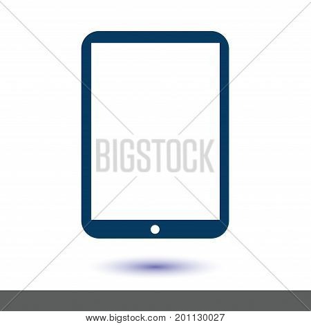 Modern digital tablet PC icon. Flat design icon.