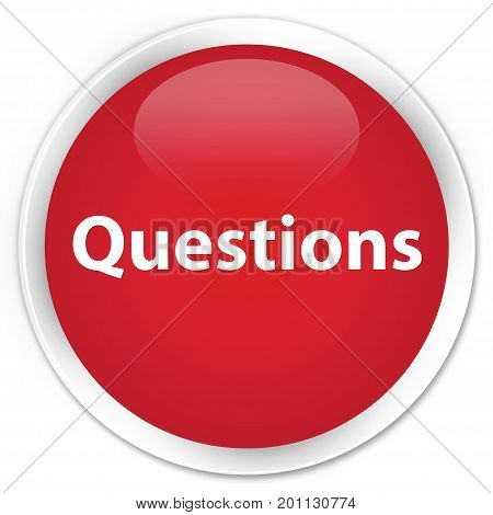 Questions Premium Red Round Button