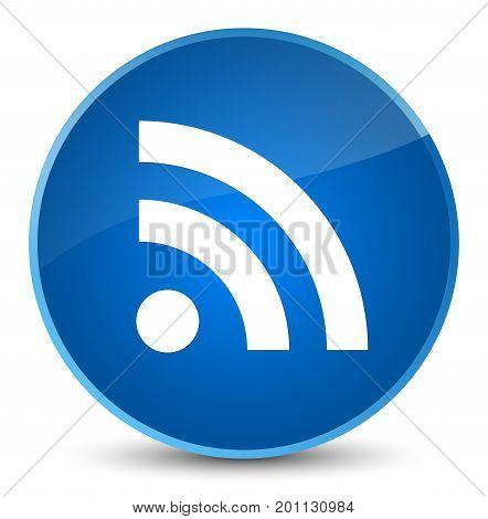 Rss Icon Elegant Blue Round Button