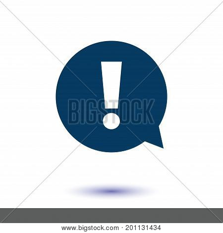 Exclamation mark. Hazard warning symbol. Flat design style. Vector.