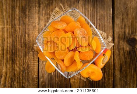 Portion Of Dried Apricots