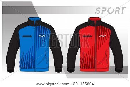 Vector illustration of sport jacket,Men Sport Jacket Vector Template