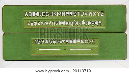 Letters And Numbers Stencil Set