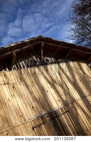 Rustic Wooden Garage In A French Farm