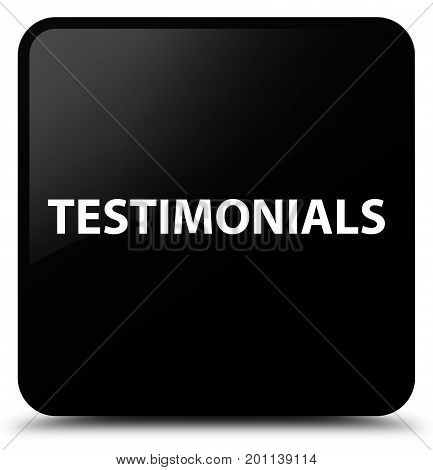 Testimonials Black Square Button